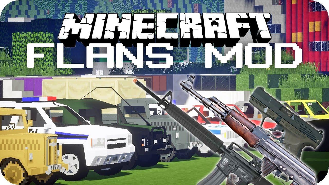 Flan's mod 1. 12. 2/1. 7. 10 (epic gun mod battle) 9minecraft. Net.