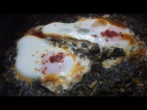 Запеченные тосты с яйцом и шпинатом - Кулинарный блог