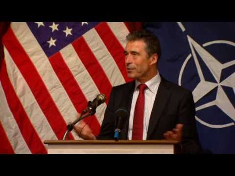 NATO Secretary General visits United States - Remarks to the Texas National Guard (w/subtitles)