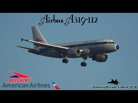 American Airlines Allegheny Retro Airbus A319-112 Landing @ Toronto Pearson Int'l February 25, 2018