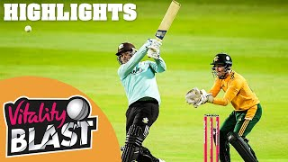 Surrey v Notts | Roy and Christian Star in Reduced-Over Final! | Vitality Blast 2020 Highlights