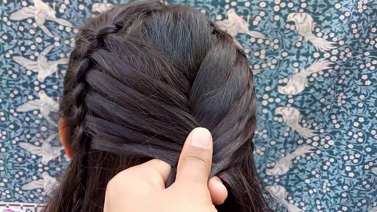 Beautiful Long Hair Hairstyle for Party Hairstyle  YouTube