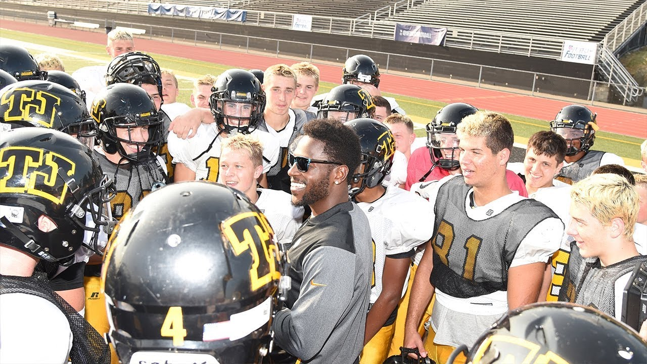 Antonio Brown Surprises High School Coach