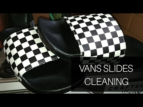 Cleaning Vans Checkered Slides/Flipflops