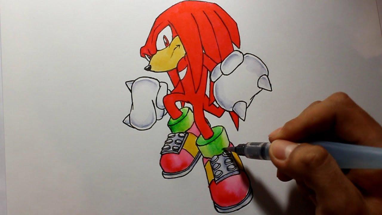 Wie Zeichnet Man Knuckles Sonic The Hedgehog Tutorial