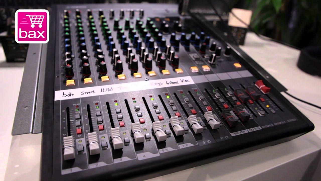 Musikmesse 2012 Yamaha Mgp Mixer Serie Youtube Mgp12x