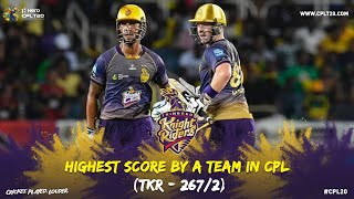 Trinbago Knight Riders set the highest score by a team at CPL! | CPL 2019