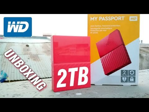 WD My Passport 2TB Portable External Hard Drive (Red) I My Passport I Unboxing I TechyJaimin
