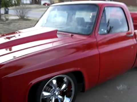 red 82 chevy. rough idle - YouTube