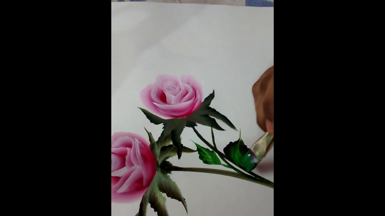 How to paint a beautiful rose quick and easy christmas for Easy way to paint a rose