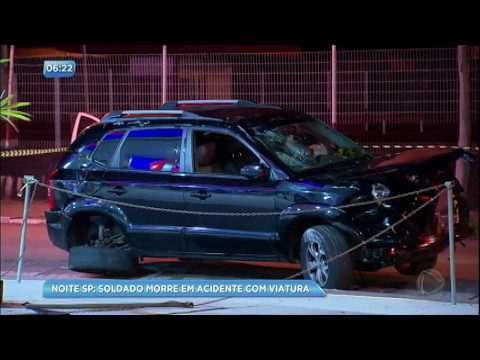 PM morre após bater viatura na zona leste de São Paulo