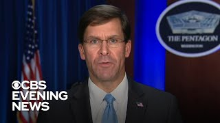 Defense Secretary Mark Esper on coronavirus' impact on U.S. military