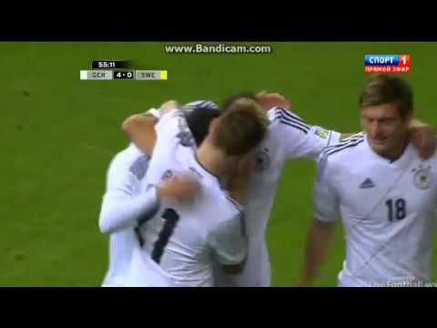 Mesut Özil Goal Germany vs Sweden 4-0 Qualification World Cup Oct.12 2012