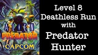 Alien vs. Predator Lv.8 Deathless 1cc w/ Predator Hunter Capcom CPS-2 Arcade