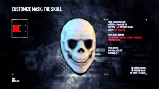 "Payday 2 -  Mask Stash: Buy & Customize ""The Skull I Love Overkill"" Mask, Masked Villian Trophy PS3"