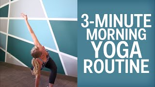 The 3-Minute Yoga Routine To Jump Start Your Mornings