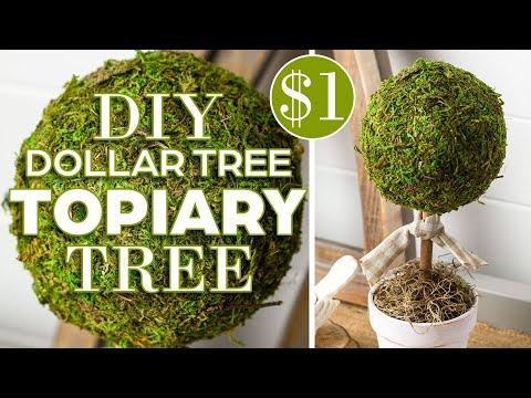 DIY Spring Easter Moss Decor   Dollar Tree Moss Challenge