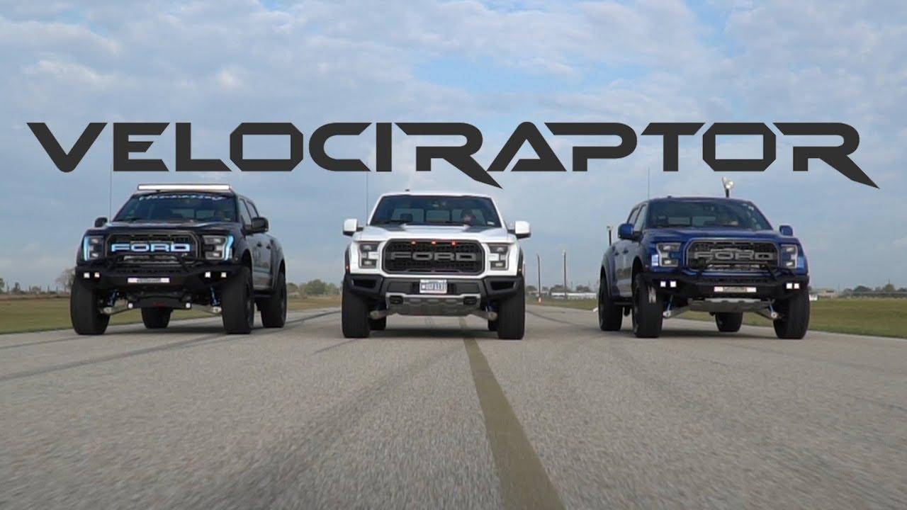 Hennessey VelociRaptor Ford Raptor Trucks in Action - YouTube