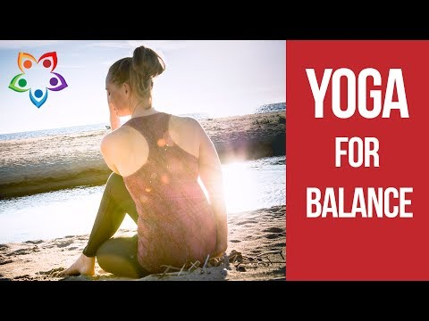 Easy Peaceful Flow Yoga Class for Balance  Beach Yoga – 20 minute Bes…