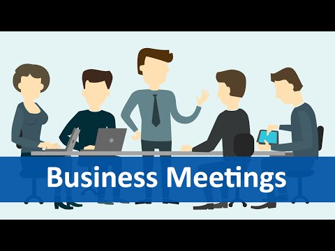 Common Expressions #6 (Business Meetings)   English Listening & Speaking Practice