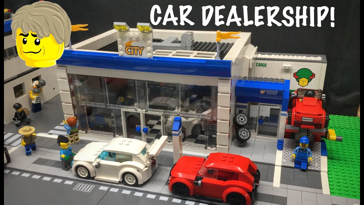 Find A Gas Station >> Lego City MOC Car dealership! 🚗 - YouTube