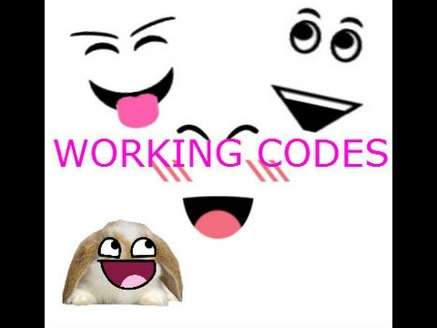 Free Roblox Face Codes You