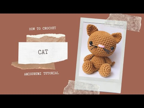 Crochet PATTERN kitten. Cat pattern. Kitten baby amigurumi toy ... | 360x480