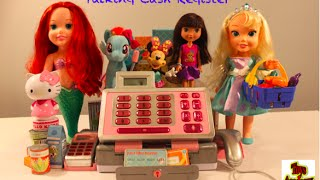 Talking Cash Register with Ariel, Elsa, Dora, Hello Kitty, Minnie Mouse and My Little Pony