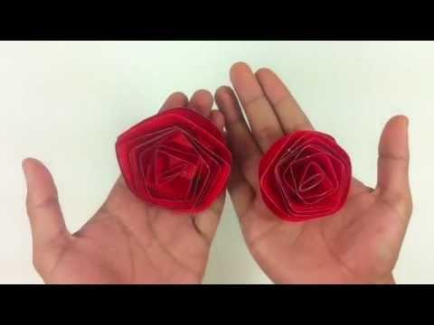 Hacer una rosa con cartulina Flores de papel YouTube