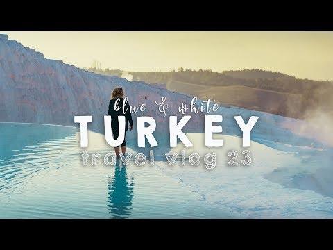 Natural Pools & White beaches of Turkey!   VANLIFE TRAVEL VLOG 23