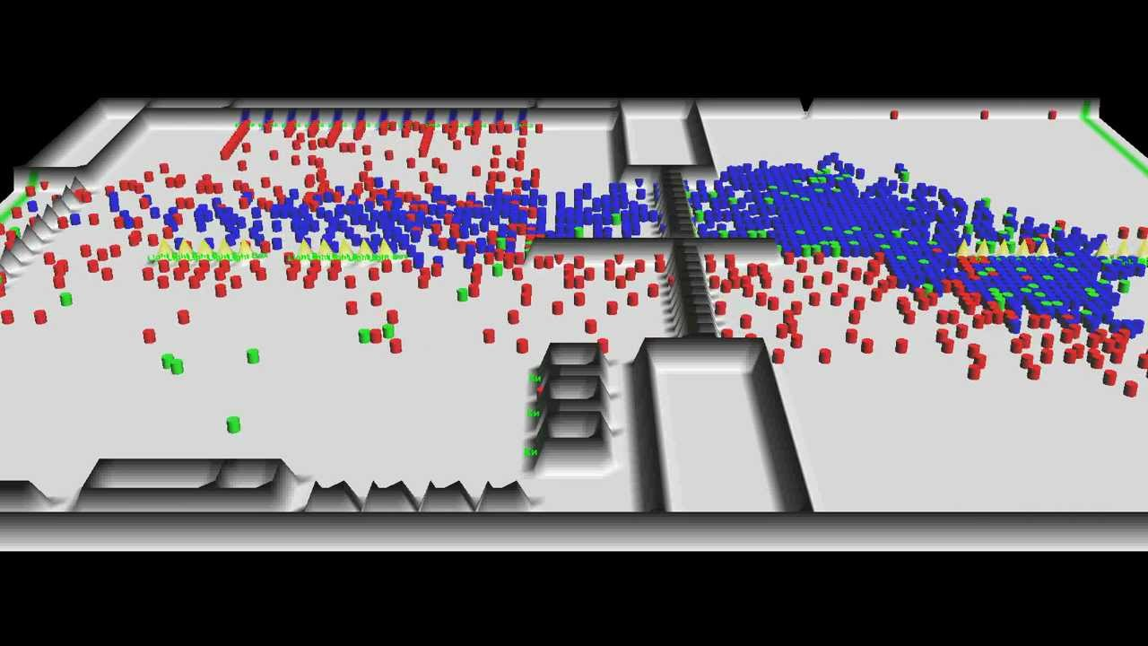 Simulation Of Pedestrian Flows At A Subway Station 3d