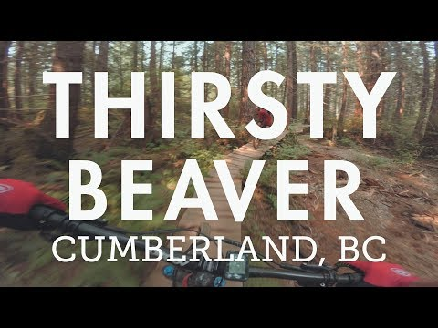 "Mountain Biking ""Thirsty Beaver"" in Cumberland, BC 