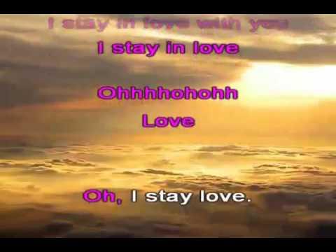 Karaoke for male - I stay in love - mariah carey