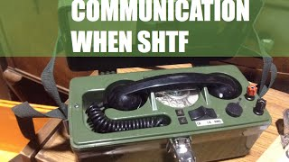 COMMUNICATION: Hand Crank Field telephones