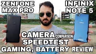 Infinix Note 5 vs Asus Zenfone Max Pro Camera Comparison|SpeedTest|Gaming|Infinix Note 5 Camera