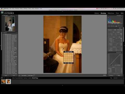 White Balance in Lightroom 3 tutorial for wedding dress