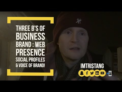 Three B's Of Business : BRAND : Web Presence, Social Profiles & Voice Of Brand