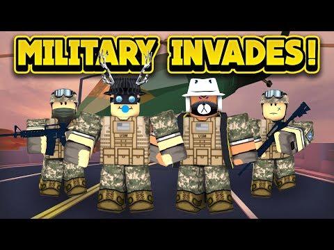 THE MILITARY INVADES JAILBREAK! (ROBLOX Jailbreak)