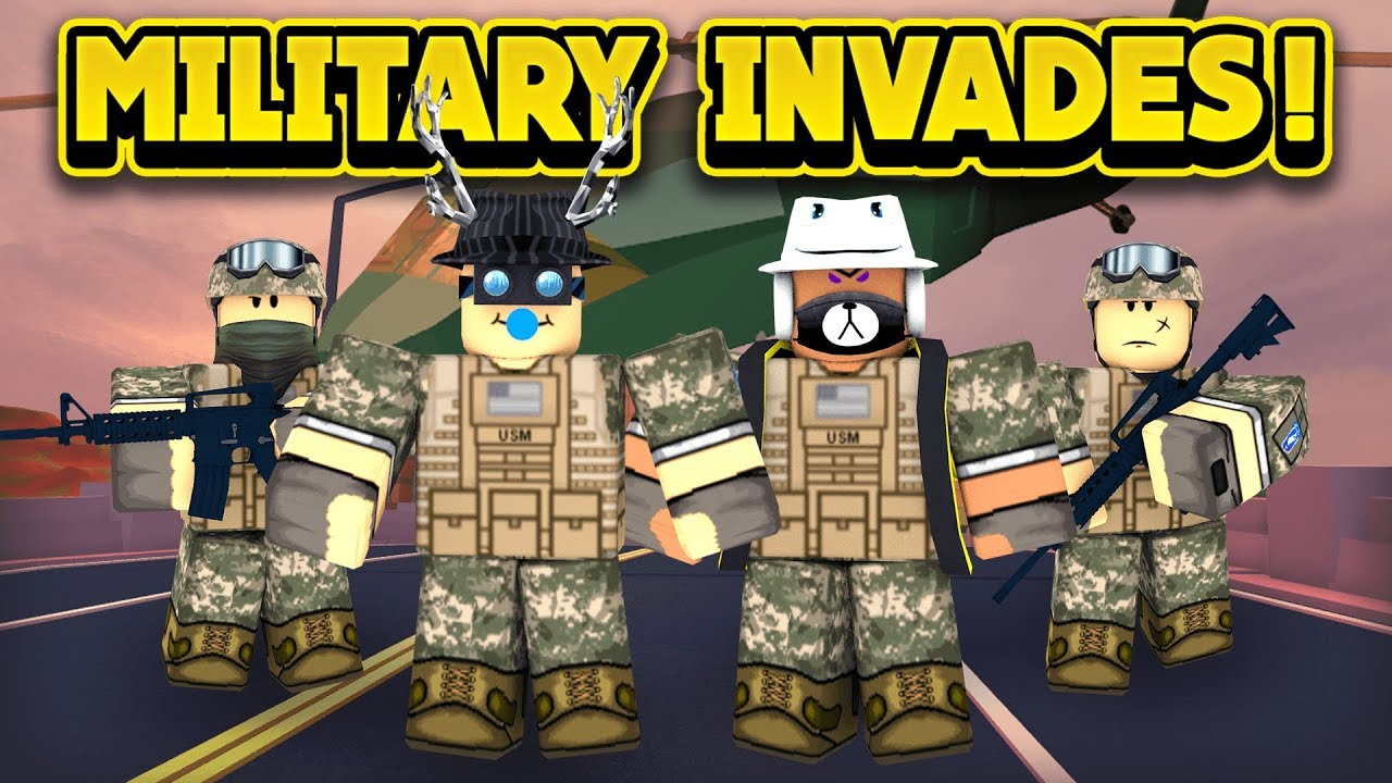 THE MILITARY INVADES JAILBREAK! (ROBLOX Jailbreak)