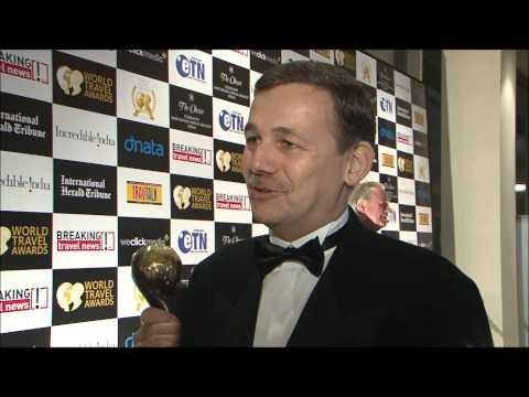 Richard Suter, general manager, Sheraton Incheon Hotel, South Korea, at World Travel Awards