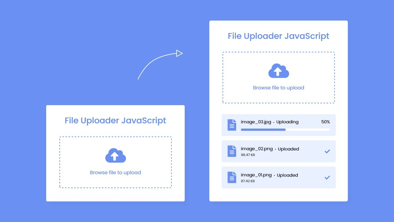 File Upload with Progress Bar in HTML CSS & JavaScript