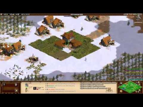Aoe2 HD: 4v4 Black Forest (Vikings, Early Game Tutorial) (10/23/13)