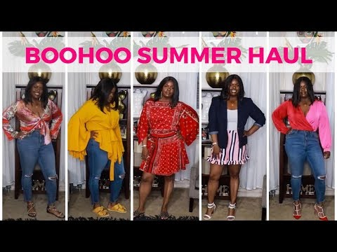 6a3701a40eff8 Curvy Girl Friendly Boohoo Haul   Try On Spring Summer 2018
