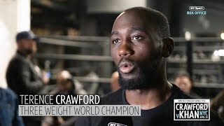 Terence Crawford looks so confident and relaxed ahead of Amir Khan fight