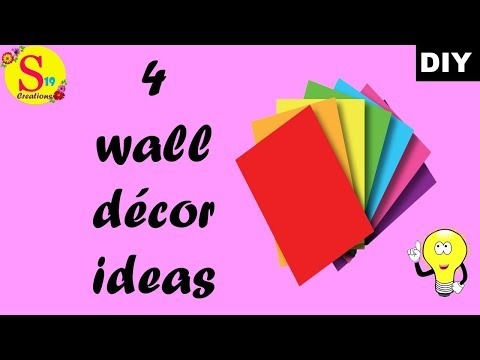 4 wall decor ideas with paper |  ceiling hanging craft ideas | diy room decor 2019 easy