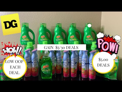 Dollar General $5/$25  And $5/30 Gain  Deals || LOW OOP  EACH DEAL