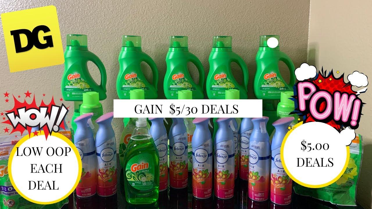 Dollar General $5/$25  and $5/30 Gain  Deals || LOW OOP  EACH DEAL