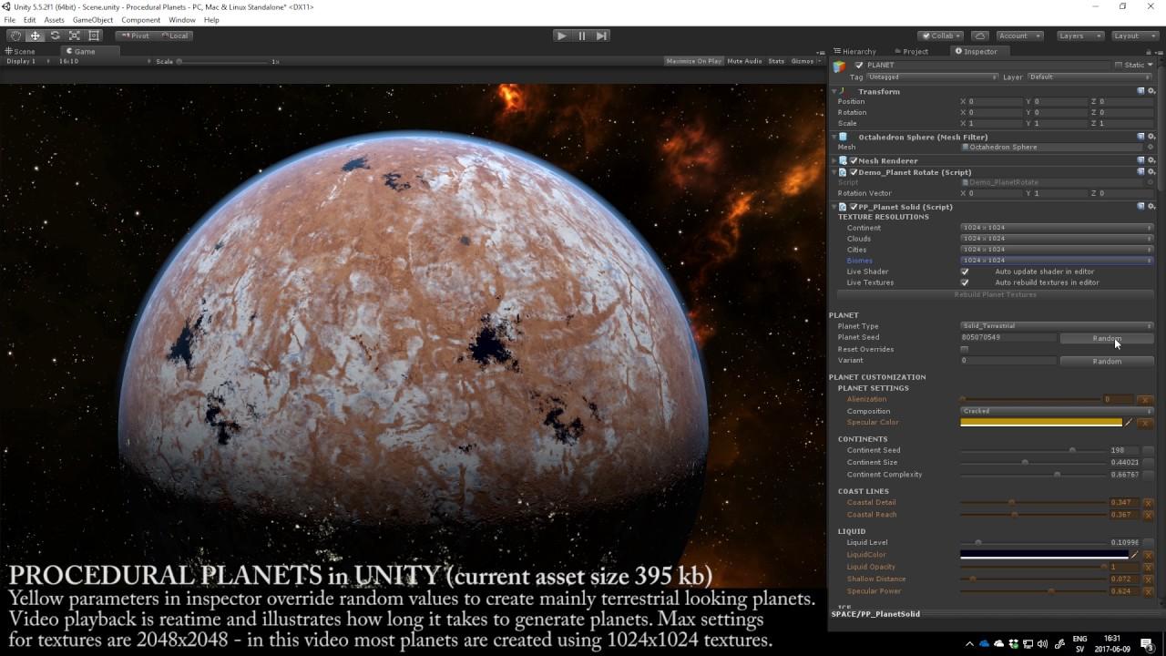 Work In Progress - Procedural Planets in Unity (Terrestrial)