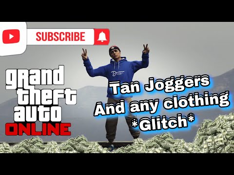 GTA5 ONLINE How To Get Tan Joggers And Any Clothing In The Game For Free 1.48 - 동영상