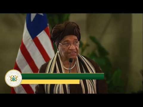 LIBERIAN PRESIDENT'S OFFICIAL WORKING VISIT TO GHANA